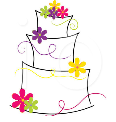 Modern Wedding Cake Clipart Royalty Free Illustration 1221508